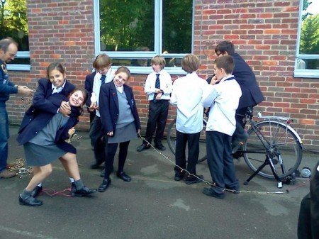 Renewable bike power in the Dig-It club!