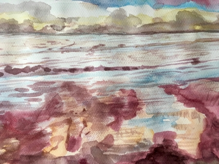 Rose-Madder Sea (watercolour 2018)